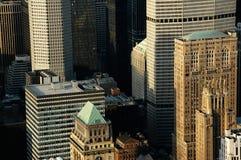 Cidade do nyc das construções do detalhe acima Imagens de Stock Royalty Free