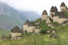 Cidade do Ossetia inoperante, norte, Rússia fotografia de stock