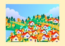 Cidade do outono Imagem de Stock
