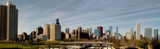 Cidade do panorama de Chicago Imagens de Stock