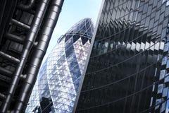 Cidade do pepino dos prédios de escritórios de Londres fotografia de stock royalty free