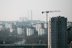 Cidade do ponto culminante Fotografia de Stock