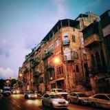 Cidade do por do sol Fotografia de Stock Royalty Free