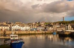 Cidade do porto de Macduff Fotografia de Stock