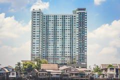 Cidade do prédio de apartamentos Fotografia de Stock Royalty Free