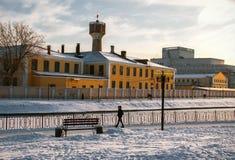 Cidade do russo no inverno Imagens de Stock