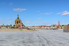 Cidade do russo no inverno imagem de stock royalty free