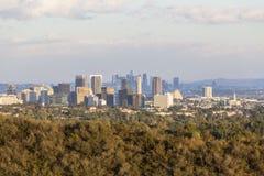 Cidade do século e Los Angeles do centro na luz do fim da tarde imagens de stock