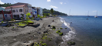 Cidade do Saint Pierre, ilha de Martinica, francês, L fotos de stock royalty free