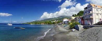 Cidade do Saint Pierre, ilha de Martinica, francesa fotografia de stock