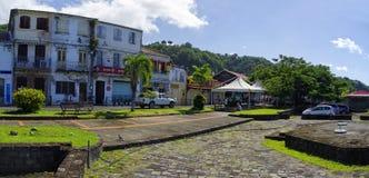 Cidade do Saint Pierre, ilha de Martinica, Fre fotografia de stock