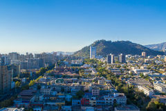Cidade do Santiago no Chile foto de stock royalty free