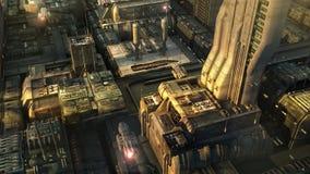Cidade do SCIFI Imagem de Stock