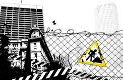 Cidade do sinal do local de edifício Ilustração Stock