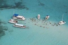 Cidade do Stingray da praia de sete milhas Fotos de Stock
