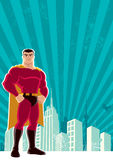 Cidade do super-herói Imagens de Stock Royalty Free