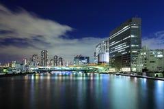 Cidade do Tóquio na noite Fotografia de Stock Royalty Free