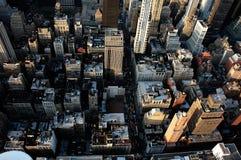 Cidade do tiro do nyc da vertigem na cidade manhatan Imagem de Stock