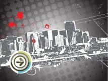 Cidade do uraba de Grunge ilustração do vetor