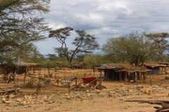 Cidade do vale de Omo, Etiópia fotografia de stock royalty free