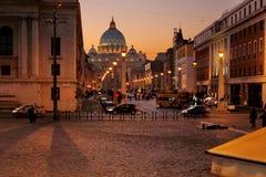 Cidade do Vaticano de Roma Fotografia de Stock