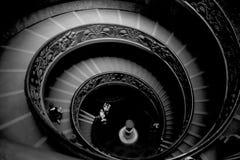 Cidade do Vaticano Roma da escadaria espiral fotografia de stock royalty free