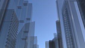 Cidade do vidro Ilustração do Vetor