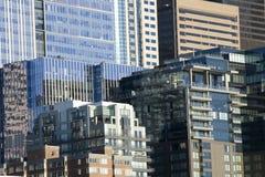Cidade do vidro e dos indicadores imagens de stock royalty free