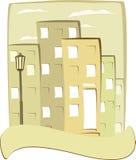 Cidade do vintage com espaço para o texto Fotografia de Stock Royalty Free