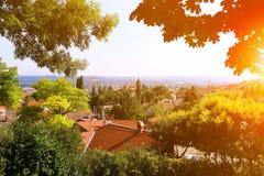 Cidade dos CPE vista de cima no por do sol Imagem de Stock Royalty Free