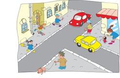 Cidade dos desenhos animados Foto de Stock