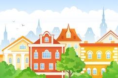 Cidade dos desenhos animados Fotografia de Stock Royalty Free