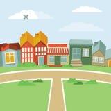 Cidade dos desenhos animados do vetor Foto de Stock Royalty Free