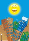 Cidade dos desenhos animados em daty Fotos de Stock