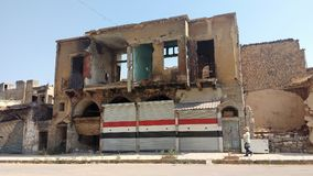 Cidade dos homs após a guerra Foto de Stock