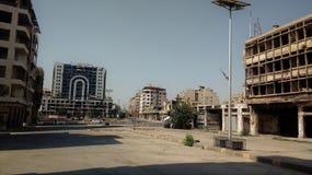 Cidade dos homs após a guerra Fotos de Stock