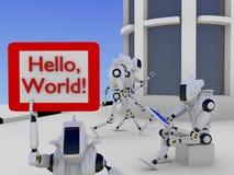 A cidade dos robôs Fotografia de Stock