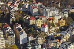 A cidade dos termas de Carlsbad Fotografia de Stock