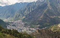 Cidade dos velinos do la de Andorra Fotos de Stock