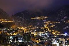 Cidade dos velinos do la de Andorra andorra Fotografia de Stock Royalty Free