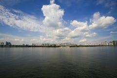 Cidade e Han River de Seoul imagens de stock royalty free