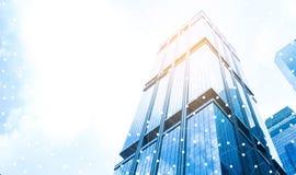 Cidade e Internet espertos com rede foto de stock