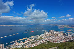 Cidade e louro de Gibraltar Imagem de Stock