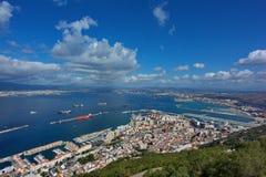 Cidade e louro de Gibraltar Fotografia de Stock