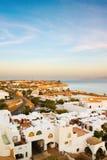 Cidade e mar brancos Imagem de Stock Royalty Free