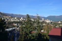 Cidade e montanhas Foto de Stock