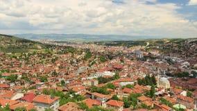 Cidade e nuvens turcas velhas Timelapse vídeos de arquivo