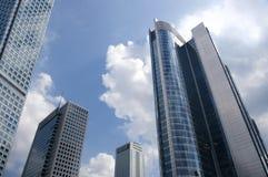 Cidade e o céu Imagens de Stock