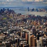 Cidade e porto Fotografia de Stock
