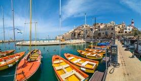Cidade e porto velhos Jaffa fotos de stock